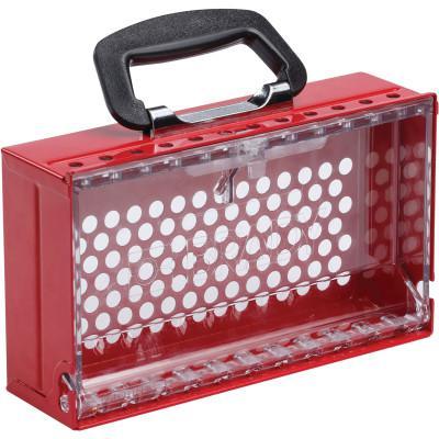 BRADY SlimView™ Group Lock Box 6.25 in H x 10.5 in W x 3.125 in D Red