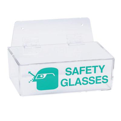BRADY Safety Glasses Holders, 9 in x 6 in x 3 in, Green/Clear