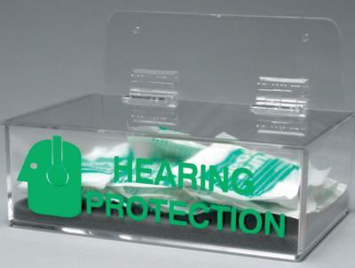 BRADY Compact Ear Plug Dispenser, 6 x 3, Clear