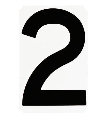 "BRADY Gothic Quik-Align Ten Packs, 4.8 in x 5.1 in, ""2"", Black"