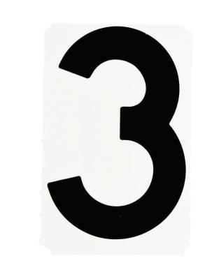 "BRADY Gothic Quik-Align Ten Packs, 4.8 in x 5.1 in, ""B"", Black"