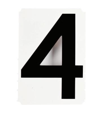 "BRADY Gothic Quik-Align Ten Packs, 4.8 in x 5.1 in, ""4"", Black"