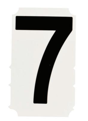 "BRADY Gothic Quik-Align Ten Packs, 4.8 in x 5.1 in, ""7"", Black"