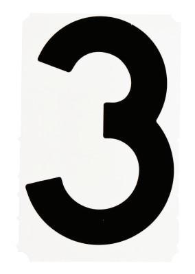 "BRADY Gothic Quik-Align Ten Packs, 4.8 in x 6.7 in, ""3"", Black"