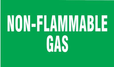 BRADY Gas Cylinder Lockout Labels, Non Flammable Gas, 5 in W x 3 in L, Green/White