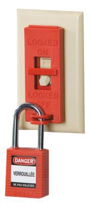 BRADY Wall Switch Lock Box, Red