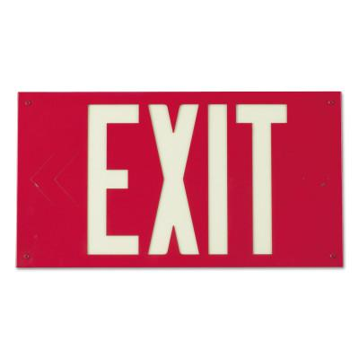 BRADY Glo Exit Signs, Red