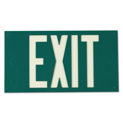BRADY Glo Exit Signs, Green