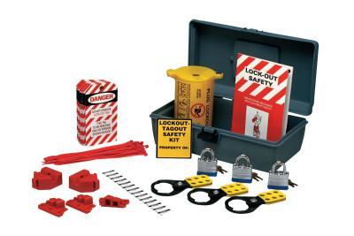 BRADY Prinzing Economy Lockout Kits, 28-Piece plus Carrying Case