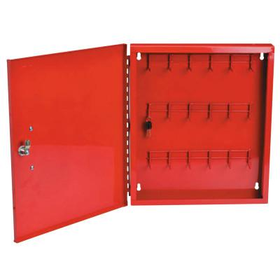 BRADY Padlock Control Center, Red, 18 in x 15 1/2 in x 2 in, 22 gauge Steel