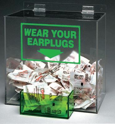 BRADY Large Capacity Ear Plug Dispensers, For Standard Box of 200 Disposable Ear Plugs