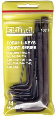 EKLIND TOOL 14-PC SHORT ARM TORX L-KEY SET W/POUCH