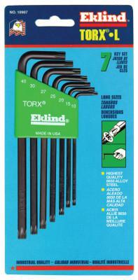 EKLIND TOOL 7-PC TORX LONG ALLEN WRENCH SET W/HOLDER  T