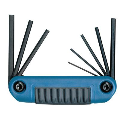 EKLIND TOOL Ergo-Fold Hex Key Sets, 8 per set, Hex Tip, Metric