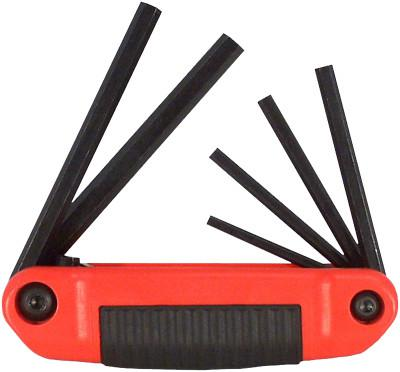 EKLIND TOOL Ergo-Fold Hex Key Sets, 6 per set, Hex Tip, Inch