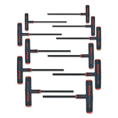 EKLIND TOOL Power-T Hex Key Sets, 11 per set, Hex Tip, Inch, 6 in Handle