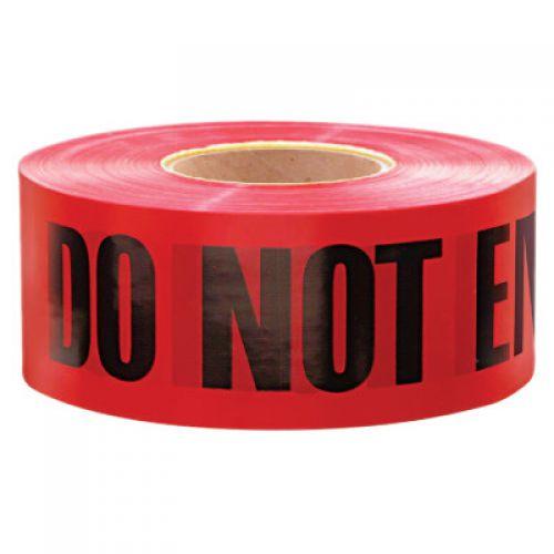 EMPIRE LEVEL Safety Barricade Tape, 3 in x 1,000 ft, Red, Danger Do Not Enter