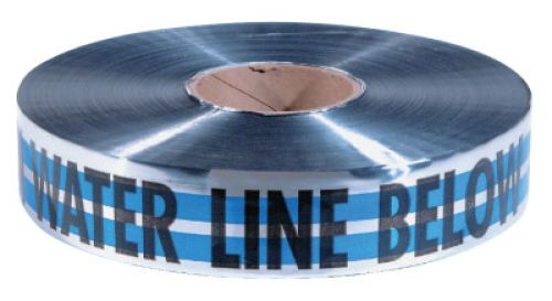 EMPIRE LEVEL MAGNATEC Premium Detectable Warning Tapes, Caution Water Line Below, 2 in, Blue