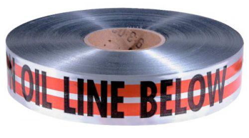 """EMPIRE LEVEL MAGNATEC Premium Detectable Warning Tapes, Caution Oil Line Below, 2"""", Orange"""