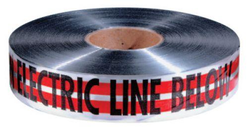 "EMPIRE LEVEL MAGNATEC Premium Detectable Warning Tapes, Caution Electric Line Below, 2"", Red"