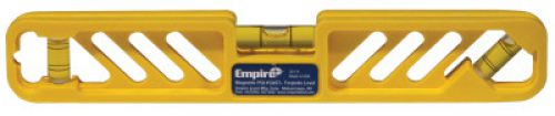 EMPIRE LEVEL Torpedo Levels, Magnetic, Polycast, 9 in, 3 Vials