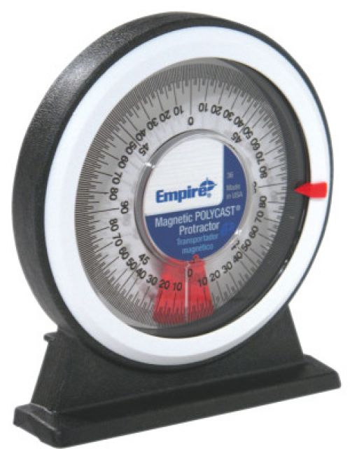 EMPIRE LEVEL Protractors, Magnetic, 1 degree