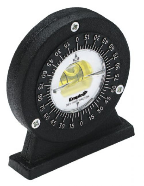 EMPIRE LEVEL Protractors, Magnetic, 5 degree