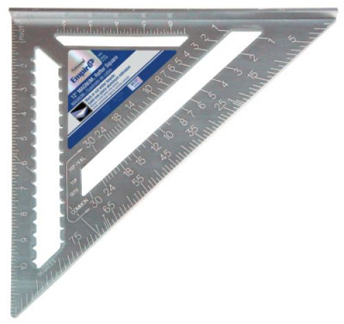 EMPIRE LEVEL Magnum Rafter Squares,  x 12 in, 1/8 in @ 1 in, 1/8th, Aluminum