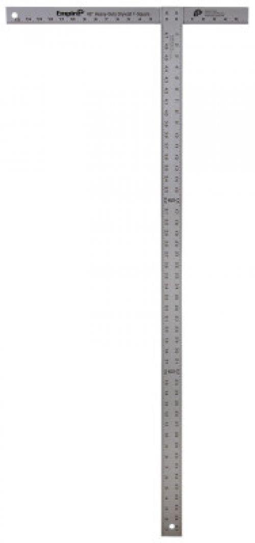 EMPIRE LEVEL T-Squares, Professional, 47 7/8 in, Aluminum, Silver