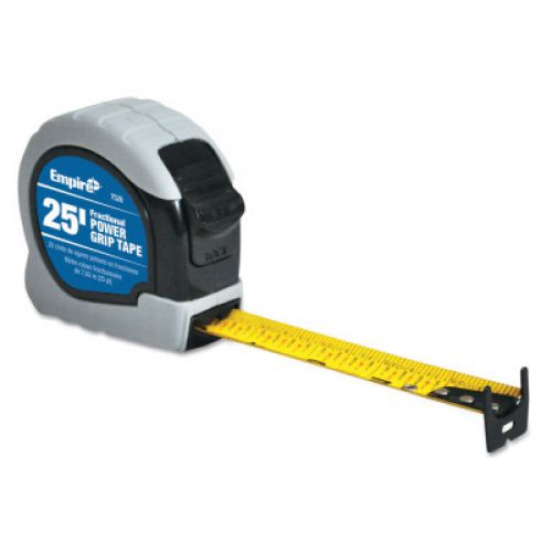 EMPIRE LEVEL Power Grip Tape Measures, 1 in x 25 ft, Yellow