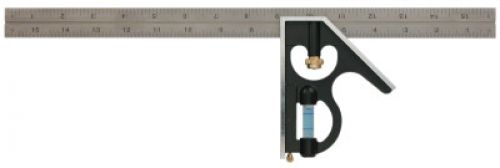 """EMPIRE LEVEL True Blue Combination Squares, 16"""", 1/16 @ 1""""; 1/32 @ 1"""", Inch, Stainless Steel"""
