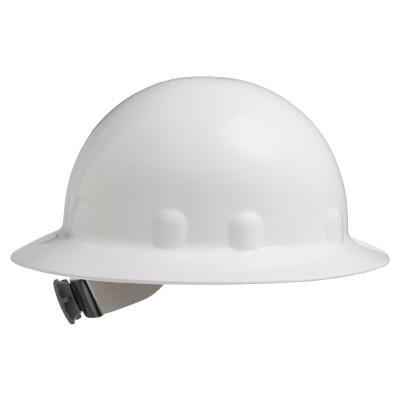 FIBRE-METAL SuperEight Hard Hats, 8-Point Ratchet, E-1 Full Brim, White