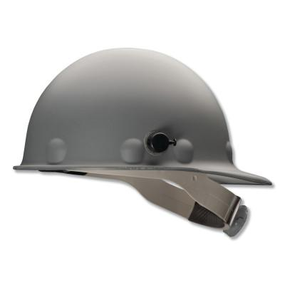 FIBRE-METAL P2A HARD HAT, GRAY, SWINGSTRAP W/ QUICKLOK