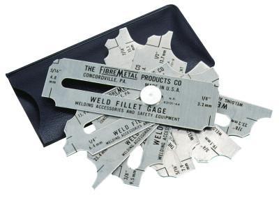 FIBRE-METAL Weld Fillet Gages Set 1/8 in - 1 in, Stainless Steel