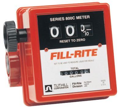 FILL-RITE Mechanical Flow Meters, 3/4 in Inlet, 5 gal/min - 20 gal/min