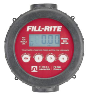 FILL-RITE Digital Flow Meters, 1 in Inlet, 2 gal/min - 20 gal/min