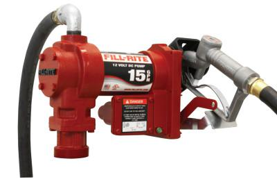 FILL-RITE Rotary Vane Pumps with Hose and Manual Nozzle, 12V dc, 3/4 in, 12 ft Hose