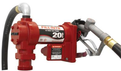 FILL-RITE Rotary Vane Pumps w/ Hose and Manual Nozzle, 12VDC, 1 in, 12 ft Hose