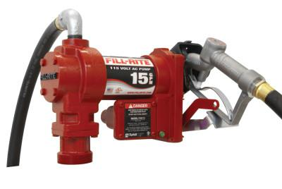FILL-RITE Rotary Vane Pumps w/ Hose and Manual Nozzle, 115 VAC, 3/4 in, 12 ft Hose