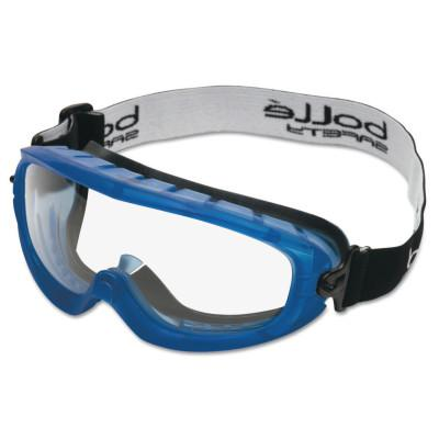 BOLLE SAFETY Atom Safety Goggles, Clear/Blue, Indirect Lower Vents