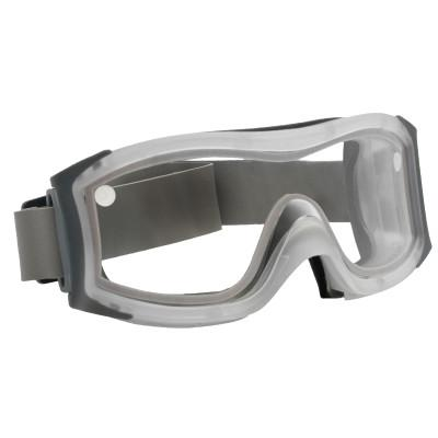 BOLLE SAFETY DUO Safety Goggles, Smoke Dual Polycarbonate Lens, Cloth Strap, Frosted Frame