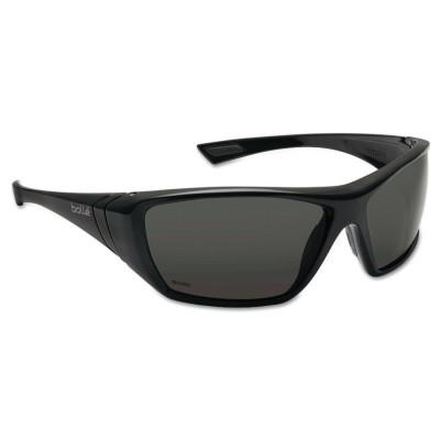 BOLLE SAFETY Hustler Safety Glasses, Polarized Lens, Anti-Fog, Anti-Scratch, Black Frame