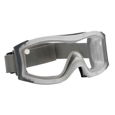 BOLLE SAFETY DUO Safety Goggles, AntiScratch/AntiFog, Clear Poly, Neoprene Strp,Frosted Frame