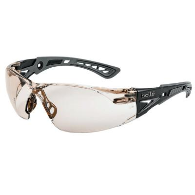 BOLLE SAFETY Rush+ Series Safety Glasses, CSP Lens, Platinum Anti-Fog/Anti-Scratch