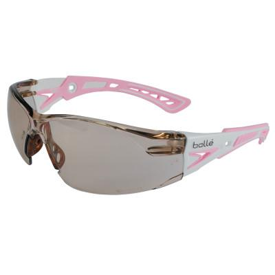 BOLLE SAFETY Rush+ Series Safety Glasses, CSP Lens, Anti-Scratch/Platinum Anti-Fog