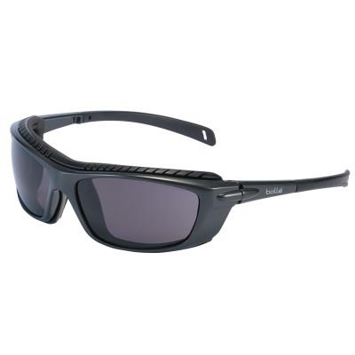 BOLLE SAFETY Baxter Series Safety Glasses, Smoke Lens, Platinum Anti-Fog/Anti-Scratch