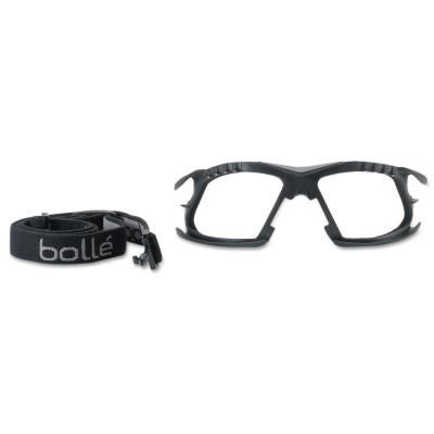 BOLLE SAFETY Foam and Strap Kits, For Bolle Rush+ Safety Glasses, Black