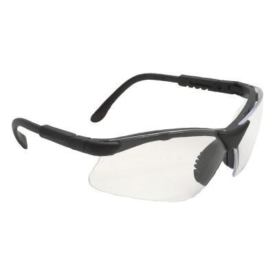 RADIANS Safety Eyewear, Clear Lens, Polycarbonate, Polarized, Black Frame