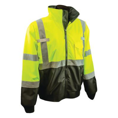 RADIANS SJ110B Two-in-One High Visibility Bomber Safety Jackets, 4XL, Polyester, Green
