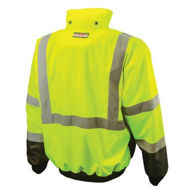 RADIANS SJ110B Two-in-One High Visibility Bomber Safety Jackets, 2XL, Polyester, Green
